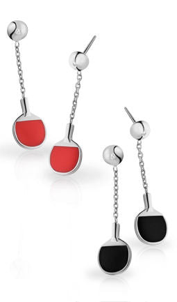 Vinqui Free-Flowing Table Tennis Bat Earrings