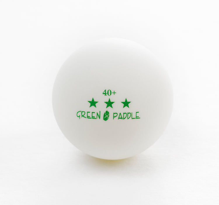Green Paddle 3 star 40+ Poly Ball