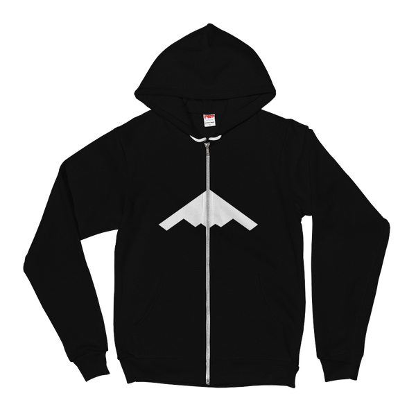 STEALTH Zipper Hoodie sweater (white logo)