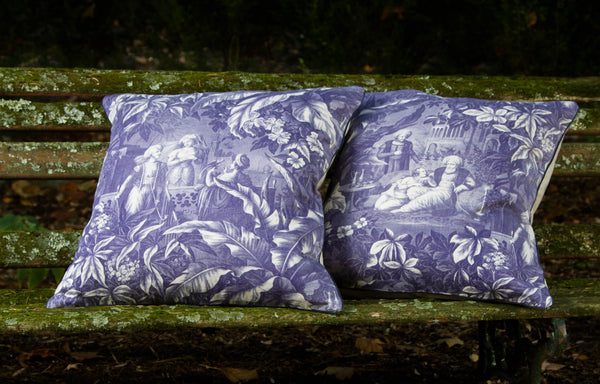 New Vintage Collection toile pillows by Mary Jane McCarty