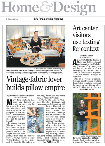 Mary Jane McCarty - Vintage-fabric lover builds a pillow empire
