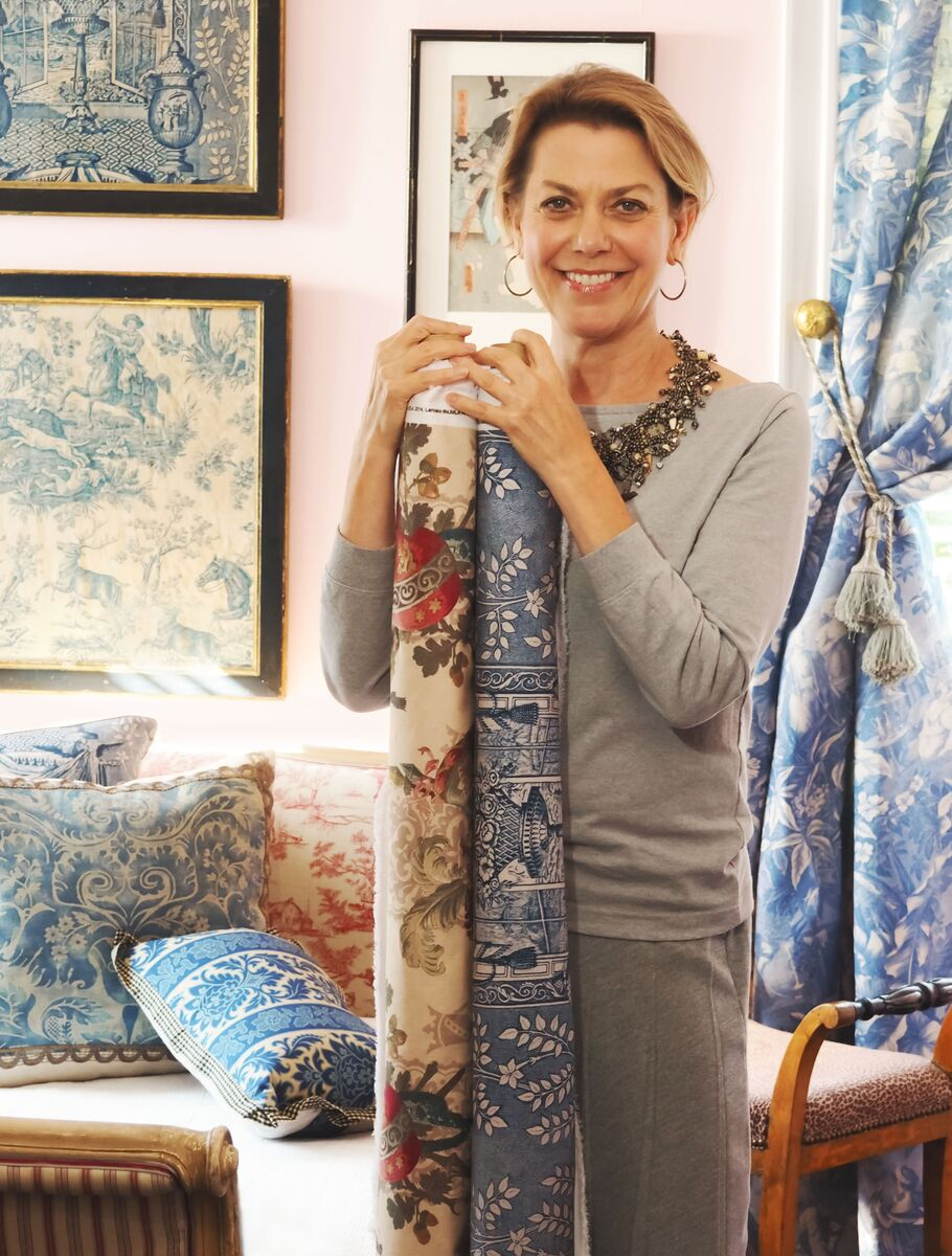 mary jane mccarty with her New Vintage fabrics