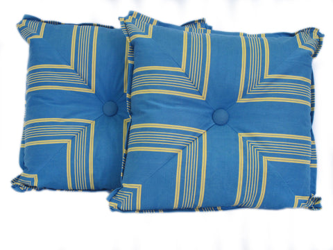 Vintage French Ticking Pillows/Pair