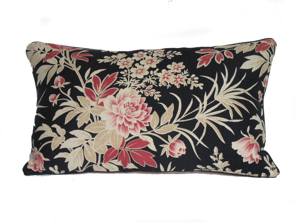 19C French antique floral textile pillow by Mary Jane McCarty