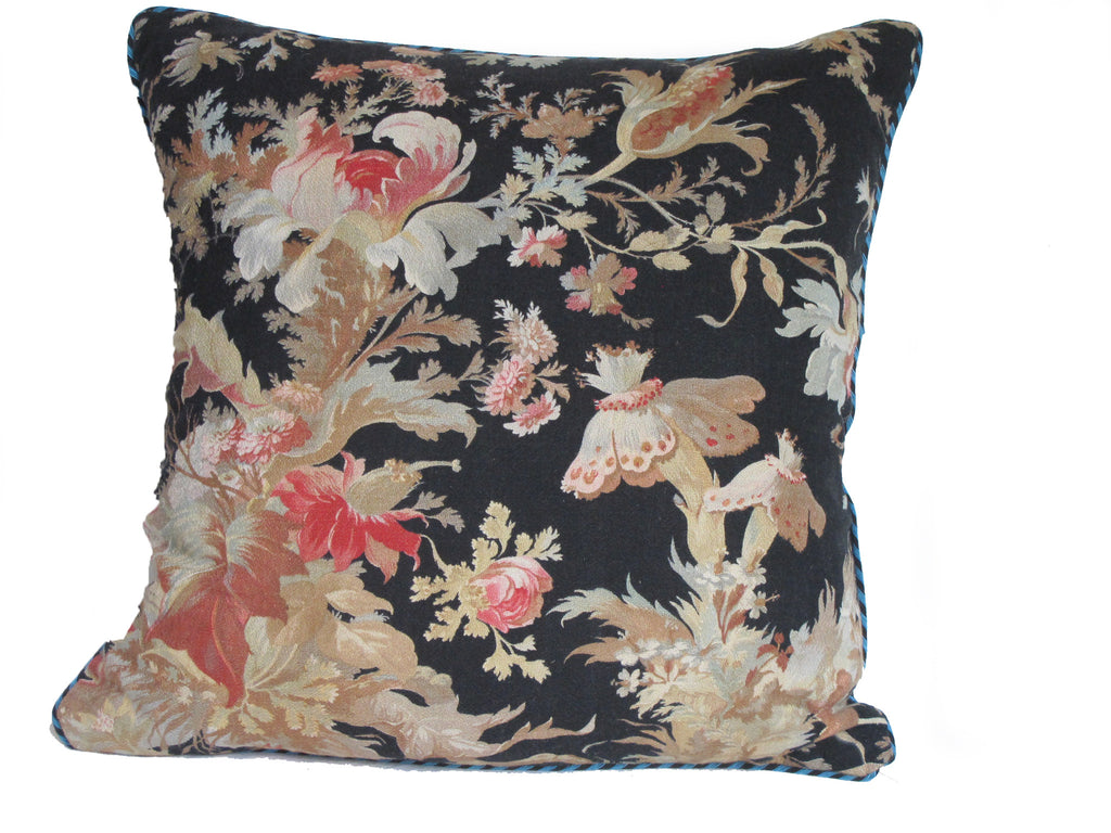 19th C French Fabric Pillow