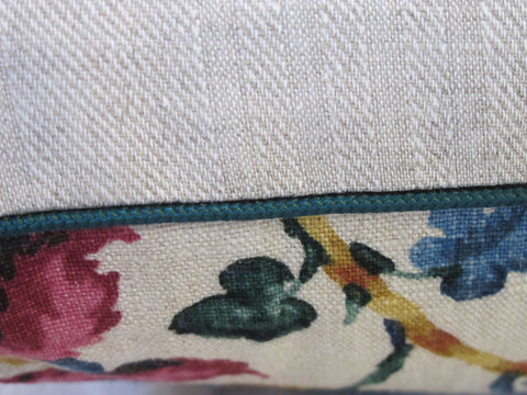 antique textile pillow by mary jane mccarty