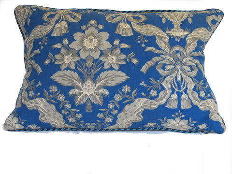 19th Century French Printed Fabric Pillow