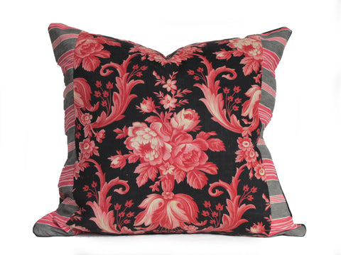 19th Century French Fabric Pillow