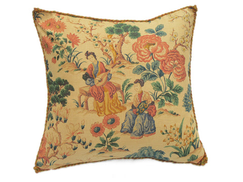 Printed Chinoiserie Pillow