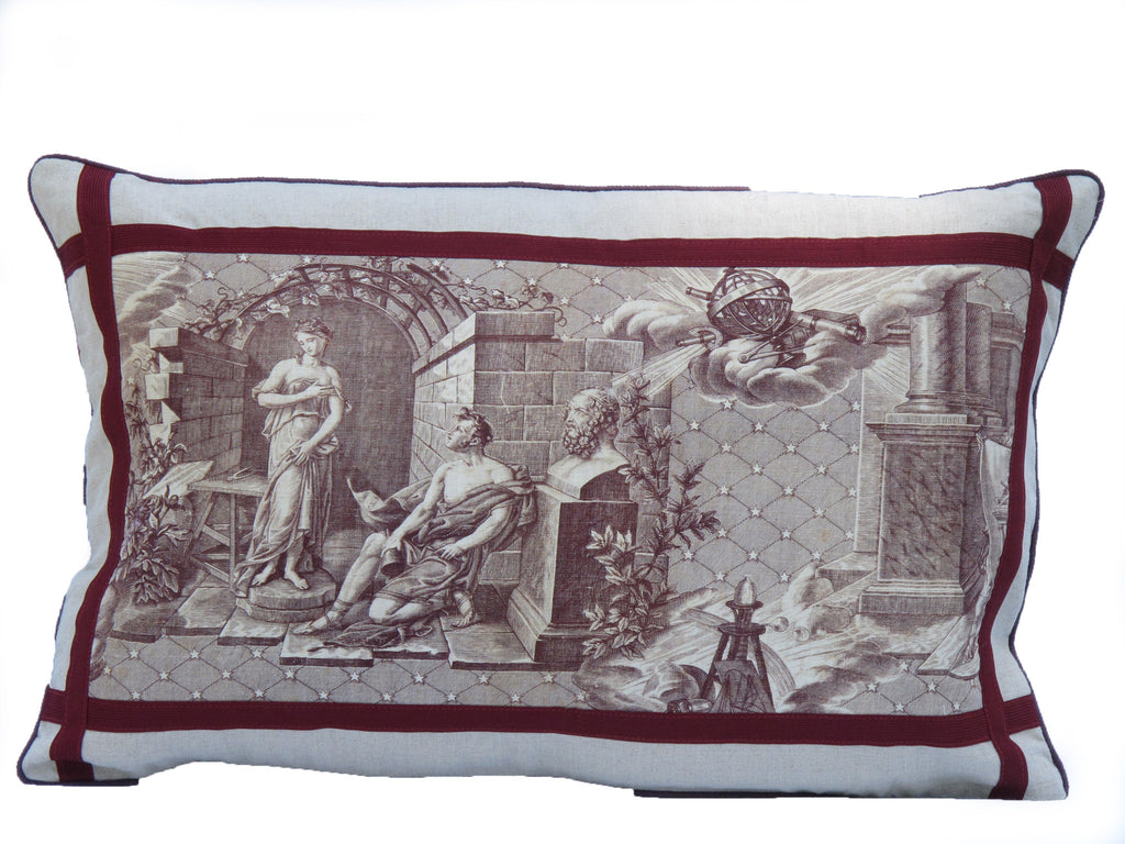 19th. C. Toile Fabric Pillow