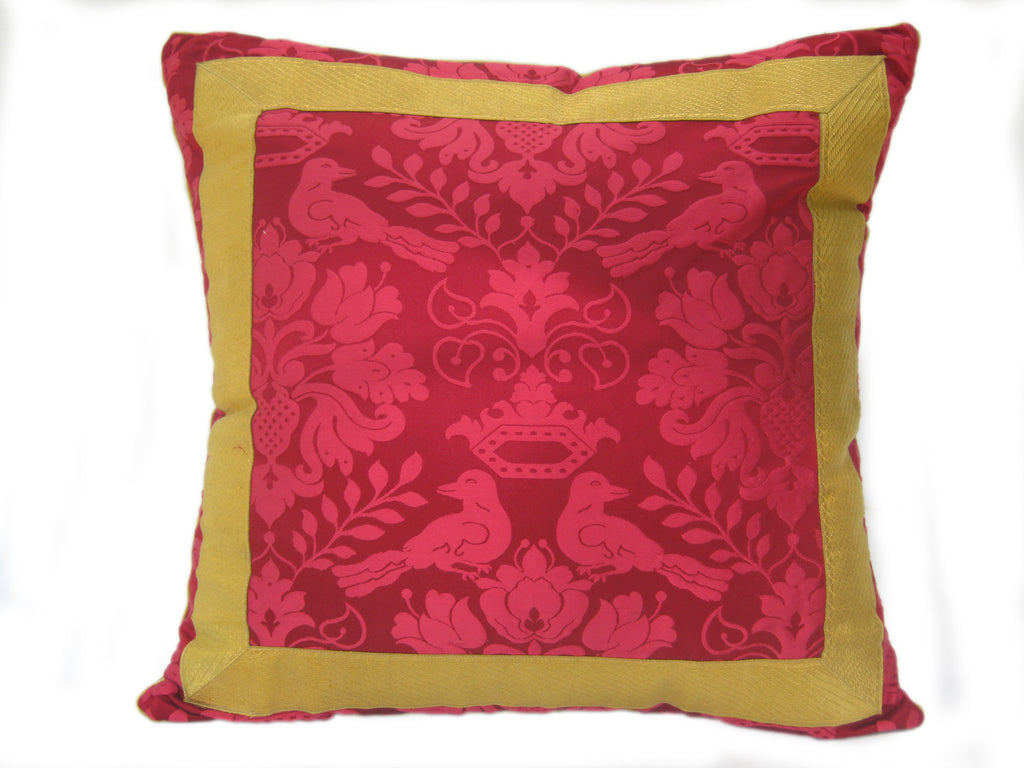 scalamandre silk damask pillow by mary jane mccarty