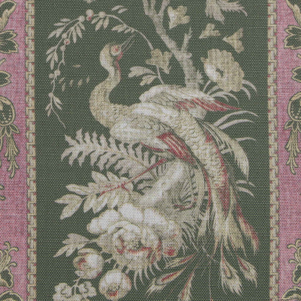 Asian bird fabric by mary jane mccarty