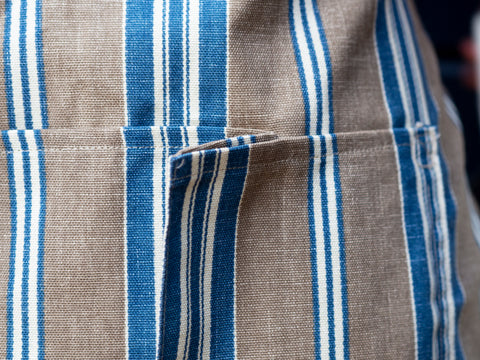 Brown and Blue Stripe Work Apron