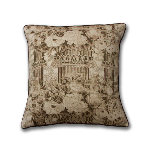Columns Pillow/Sepia