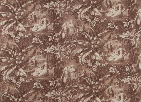 Harem sepia fabric designed by Mary Jane McCarty