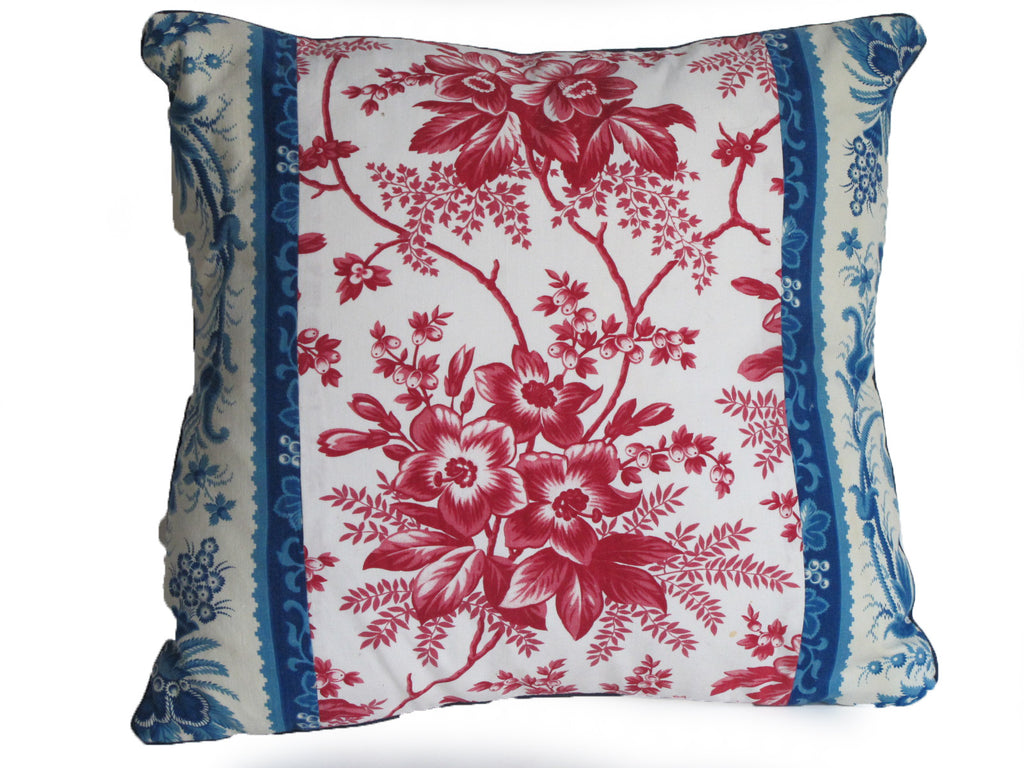 19th C French Fabric Patchwork Pillow