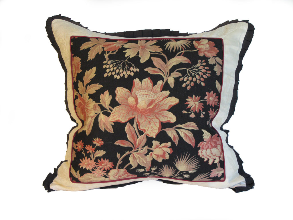 19th C. French Fabric Pillow