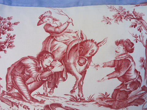 19th C.Toile Pillow