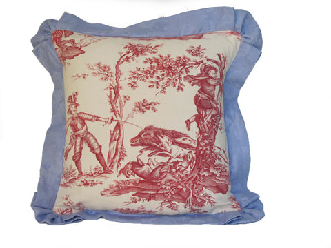 19thC. Toile pillow