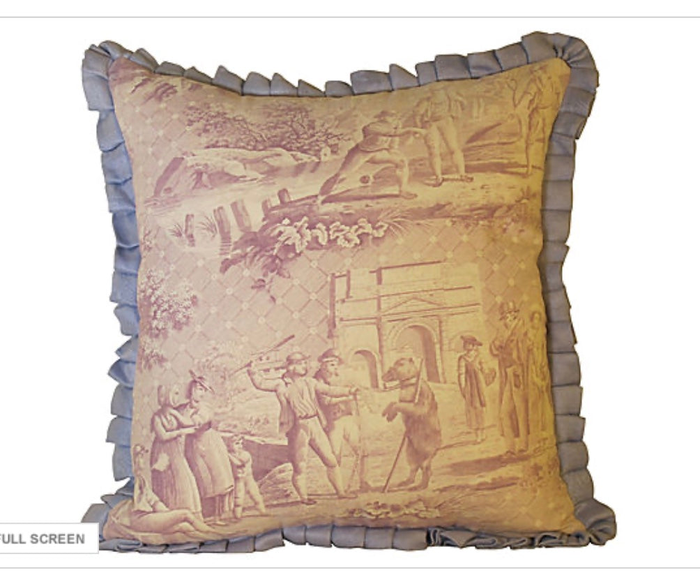 Antique Toile Pillow