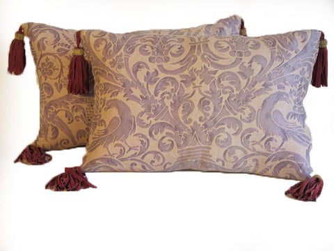 Vintage Fortuny Pillows by Mary Jane McCarty