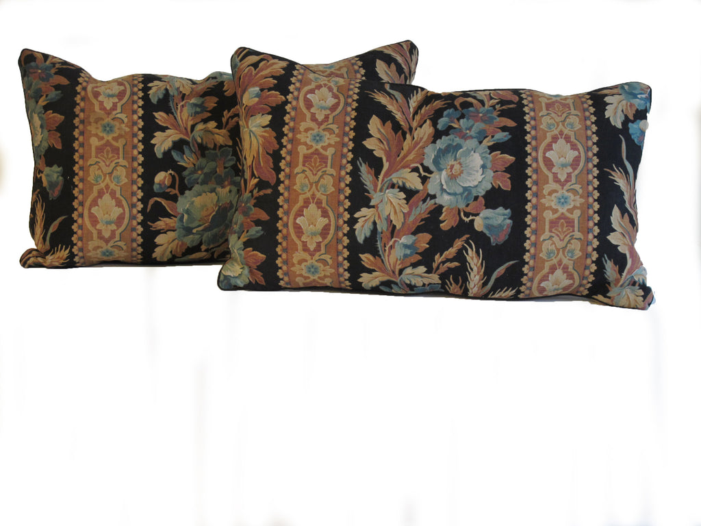 19th C. French Floral Pillows