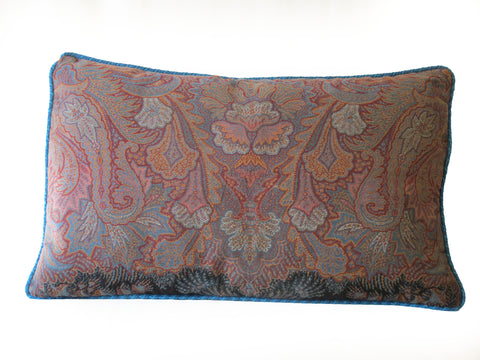 Antique Paisley and Tartan Pillow