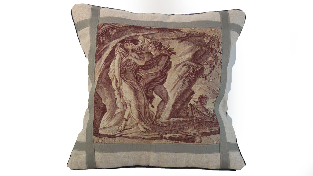 19th C. Toile Pillow