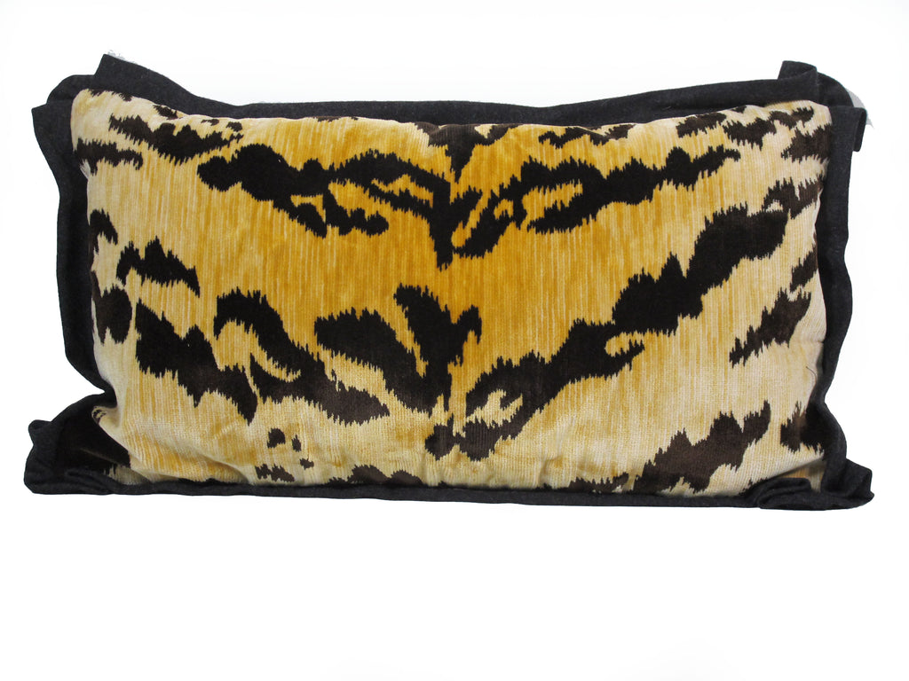 Bevilacqua Tiger Stripe Velvet Pillow