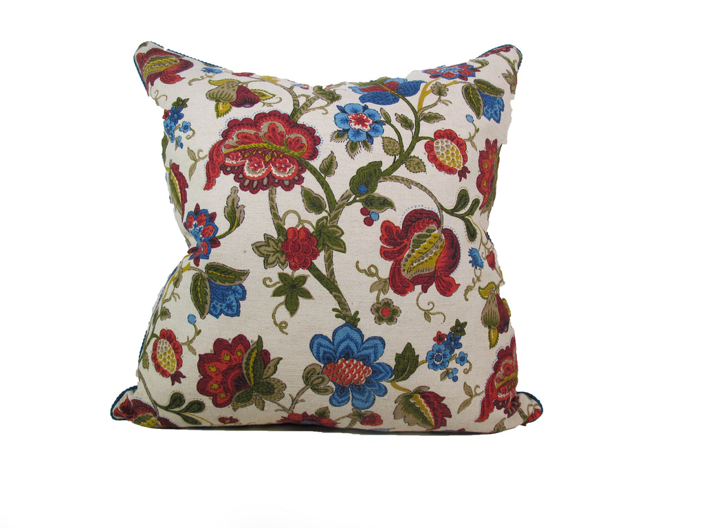 English Printed Linen Pillow