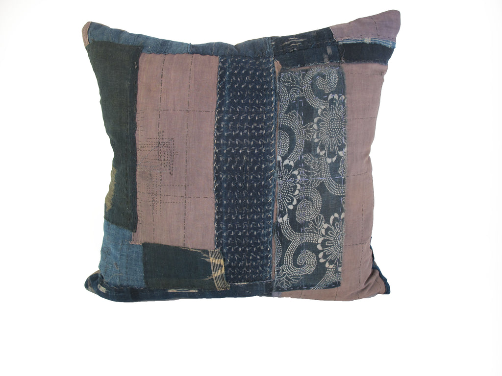 Antique Japanese Boro Pillow
