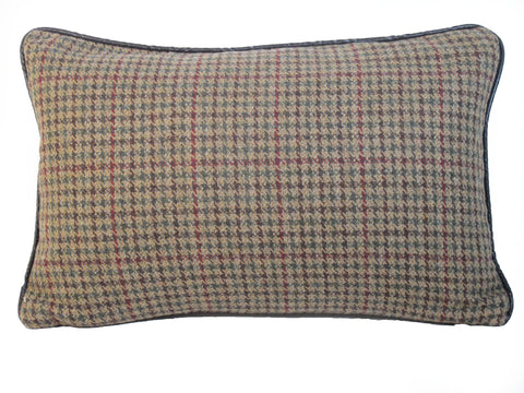 Wool Houndstooth Vintage Man's Suiting Pillow
