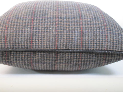 Wool Plaid Man's Suiting Pillow