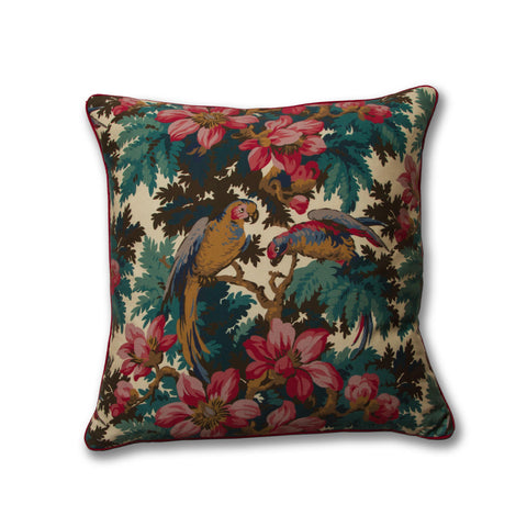 Jungle Parrot Pillow/Teal
