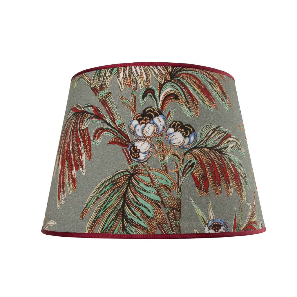 Indienne slate New Vintage lampshade by Mary Jane McCarty