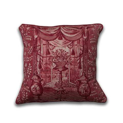 Ming Urn Pillow/Rouge