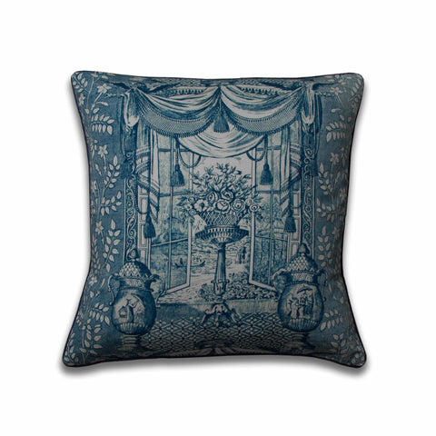 Ming Urn Pillow/Indigo