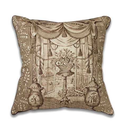 Ming Urn Pillow/Sepia