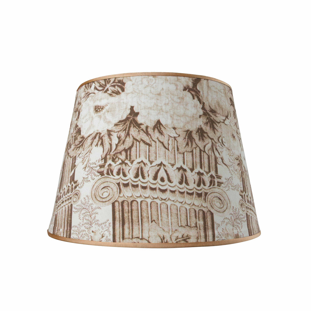 Columns in sepia New Vintage Collection lampshade