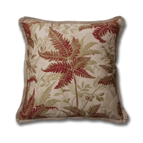 Tropic Leaves Pillow/Oxblood
