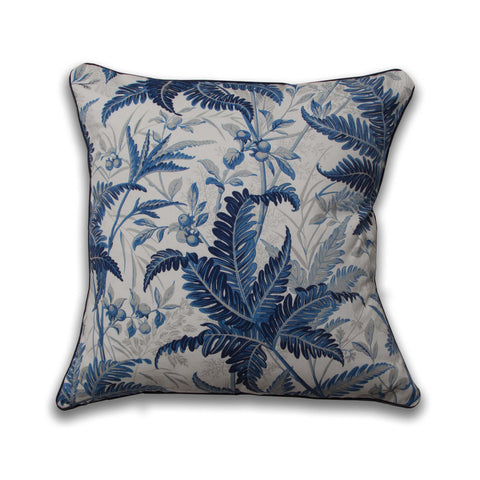 Tropic Leaves Pillow/Indigo
