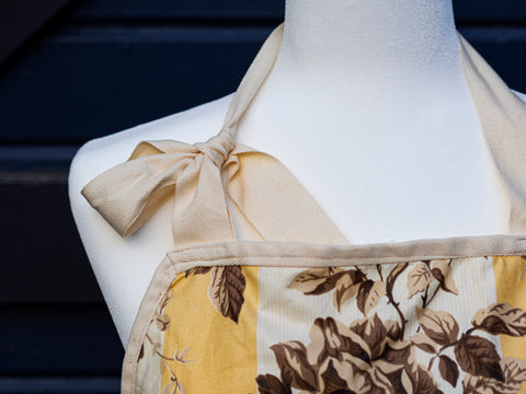 Yellow Floral Work Apron