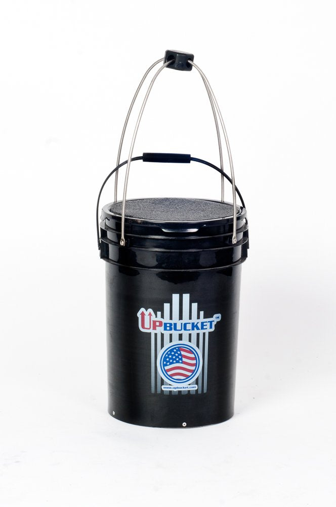 Pick-UpBucket (FACTORY) - Baseball, Softball & Tennis Ball Hopper with Padded Lid