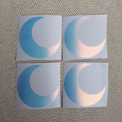 Holographic Crescent Moon Sticker