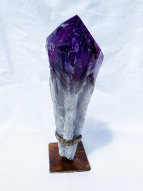 Amethyst Root Wand on stand
