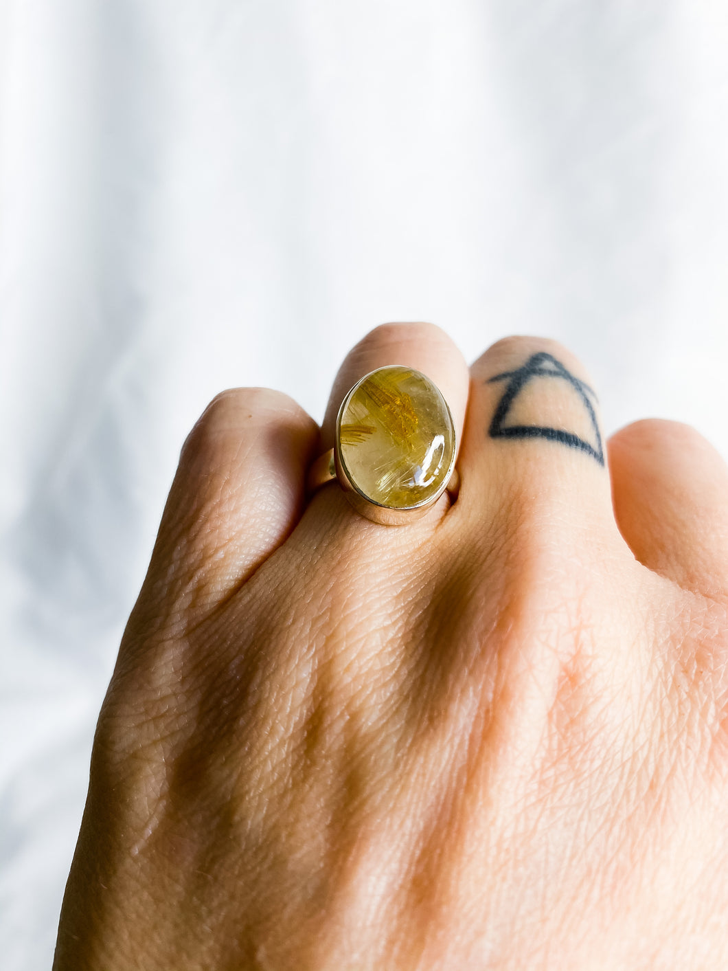 Rutile Gold Ring Size 6