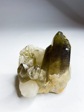 Phantom Smoky Quartz Cluster