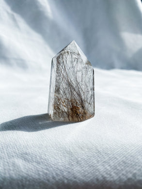Smoky Rutilated Quartz Point