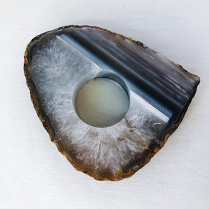 Agate Slice Candle Base
