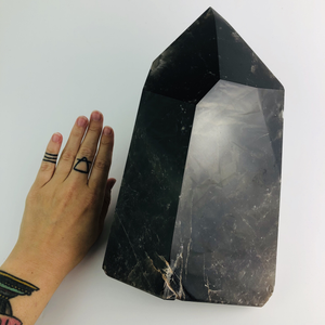 Dark Smoky Quartz Point